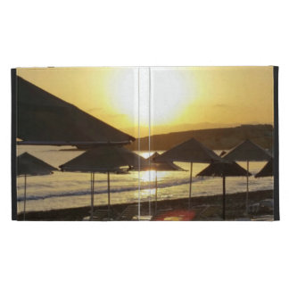 Sunrise with Greece Beach iPad Case