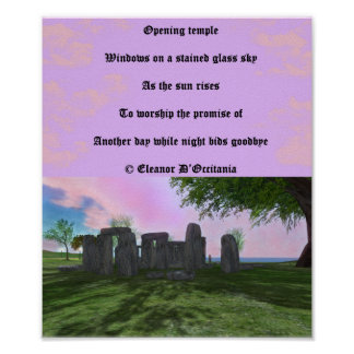 """Sunrise Worship Poetry 9.24"""" x 11.00"""" Value Poster"""