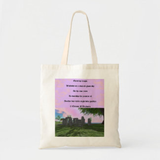 Sunrise Worship Stonehenge Poetry Budget Tote Bag