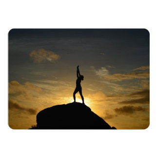Sunrise Yoga 13 Cm X 18 Cm Invitation Card