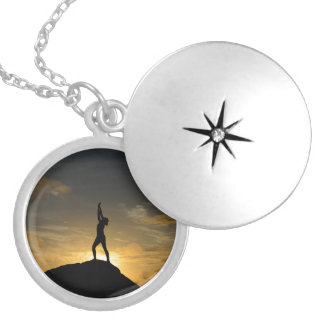 Sunrise Yoga Locket Necklace