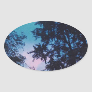 Sunrising Oval Sticker