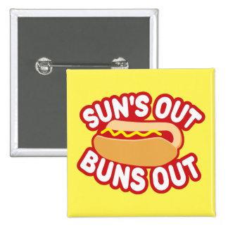 Suns Out Buns Out 15 Cm Square Badge