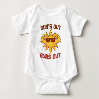 Sun's Out Guns Out Baby Bodysuit