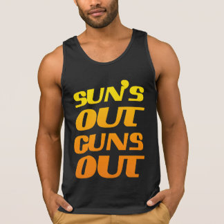 SUN'S OUT GUNS OUT FITNESS AND GYM SINGLET