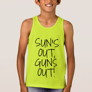 Sun's Out Guns Out, Funny Kids Boys Muscle Tank