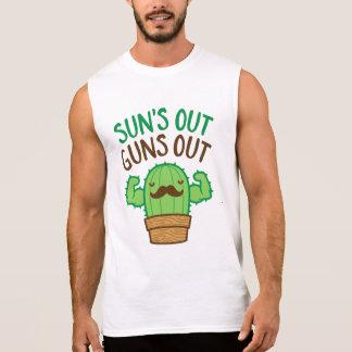 Sun's Out Guns Out Macho Cactus Sleeveless Shirt