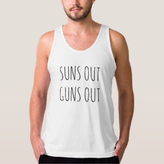 Suns Out Guns Out Muscle Humor Singlet