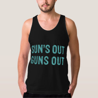 Suns Out Guns Out Sky Singlet