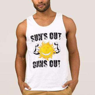 Suns Out Guns Out Summer beach Singlet