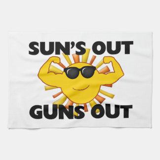 Sun's Out Guns Out Tea Towel