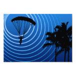 sunscene skydiving 9 cm x 13 cm invitation card