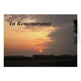sunset3cardh, In Remembrance Card