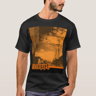 sunset7 - on Black T-Shirt