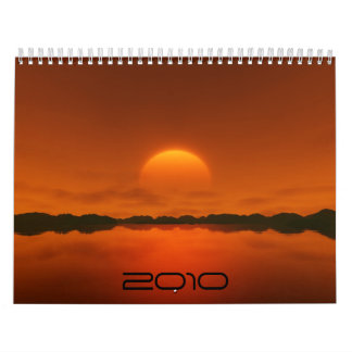 Sunset 2010 wall calendars