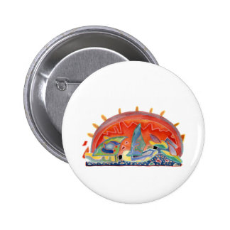 Sunset 2 over Cannes, customizable 6 Cm Round Badge