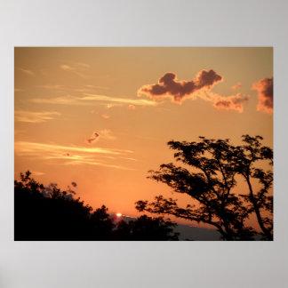 Sunset 91,44cm x 60,96cm poster (matte)