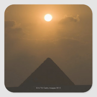 Sunset above The Great Pyramid Square Sticker