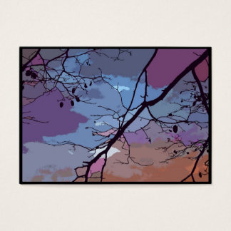 Sunset Abstract ATC Business Card