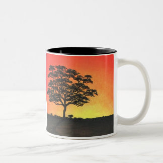 Sunset Acacia Two-Tone Coffee Mug