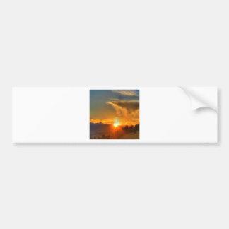 Sunset Across The Mountains Bumper Sticker