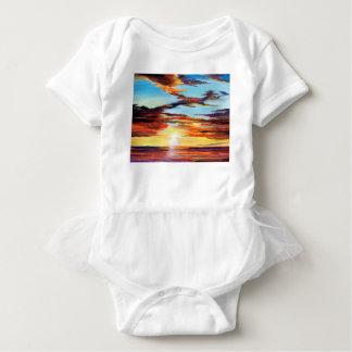 Sunset Acrylic Painting Baby Bodysuit