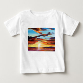 Sunset Acrylic Painting Baby T-Shirt