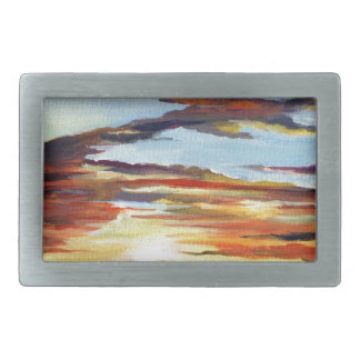 Sunset Acrylic Painting Belt Buckle