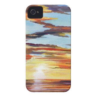 Sunset Acrylic Painting iPhone 4 Case