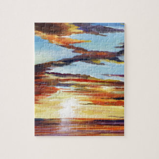 Sunset Acrylic Painting Jigsaw Puzzle
