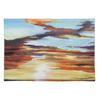 Sunset Acrylic Painting Placemat