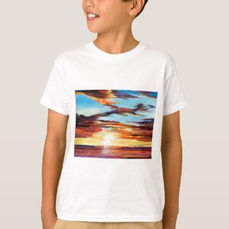 Sunset Acrylic Painting T-Shirt