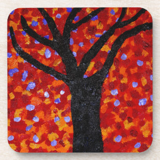 Sunset acrylic - square coaster