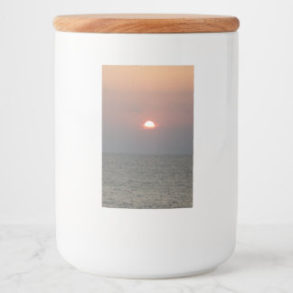 Sunset After Storm Food Container Label