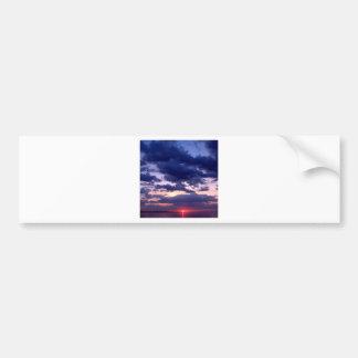Sunset Amber Grand Island Michigan Bumper Sticker