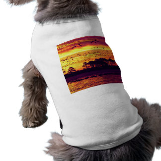 Sunset and Birds Dog Shirt
