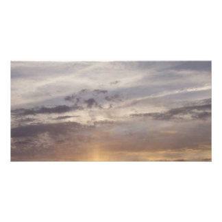 Sunset and Clouds Photo Card