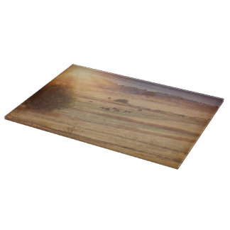 Sunset and Horses Cutting Board