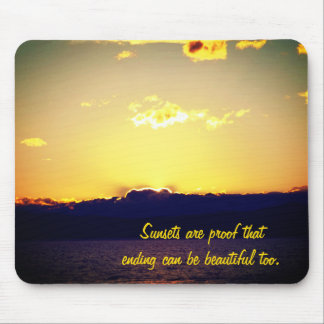 Sunset And Motivational Quote Mouse Pad