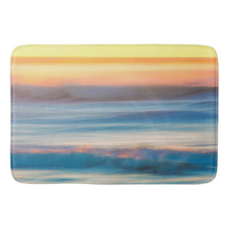 Sunset and Ocean | Cape Disappointment State Park Bath Mat