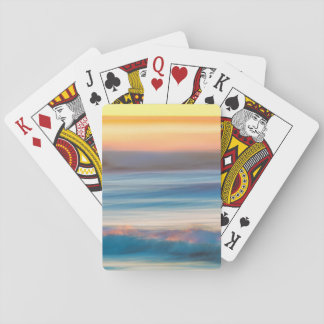 Sunset and Ocean | Cape Disappointment State Park Playing Cards