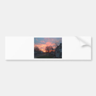 Sunset and red skies bumper sticker