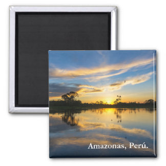 Sunset and Reflection in the Amazon Magnet