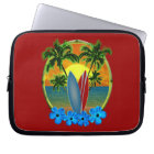 Sunset And Surfboards Laptop Sleeve