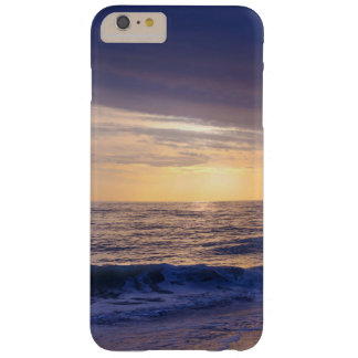 Sunset and waves on beach, purple, orange barely there iPhone 6 plus case