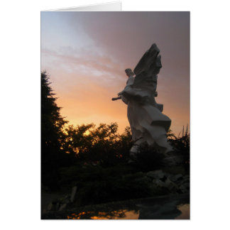 Sunset Angel - Ukraine Greeting Card