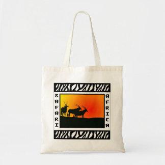Sunset Antelope Safari tote bag