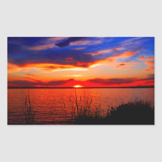 Sunset Art Rectangular Sticker