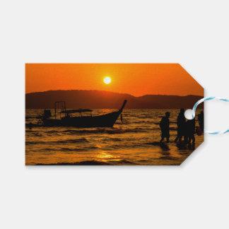 Sunset at Ao Nang beach Gift Tags