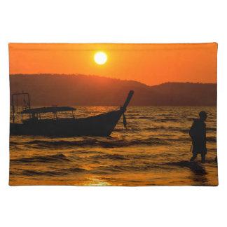 Sunset at Ao Nang beach Placemat